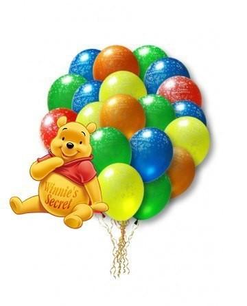 Связка воздушных шаров С Днём Рождения из 50 шаров-ассорти