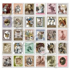 Набор наклеек Stamp Sticker – Alice
