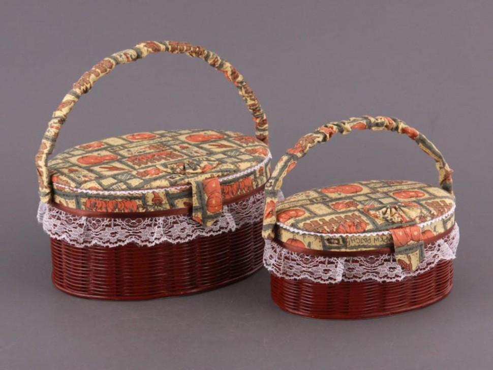 Набор шкатулок для рукоделия из 2 шт