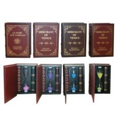 Декоративное изделие Песочные часы-книга