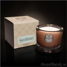 Ароматическая малая свеча White Tea & Mint от Aquiesse