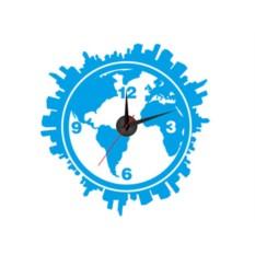 Настенные часы-наклейки Планета Земля