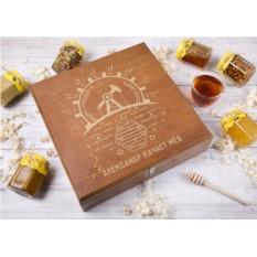 Большой подарочный набор мёда «Природные ресурсы» (12 банок)