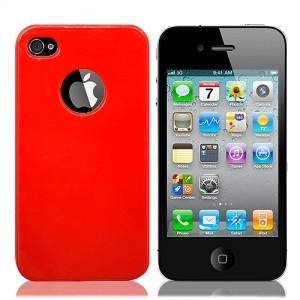 Красный чехол для iPhone4 Rainbow