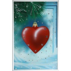 Картина Swarovski С Новым годом. Сердце