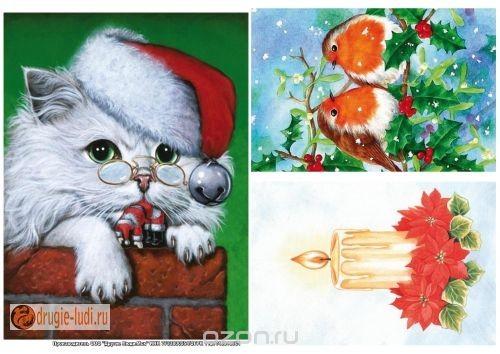 Рисовая бумага для декупажа Рождественские открытки