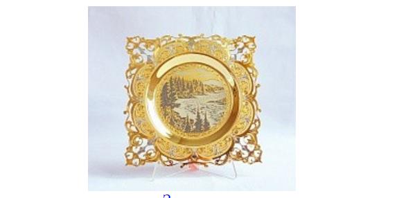 Сувенирная тарелка Природа