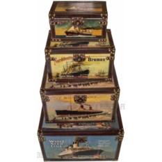 Комплект из 4 штуки сундуков Корабли