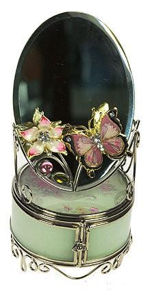 Шкатулка с зеркалом Бабочка