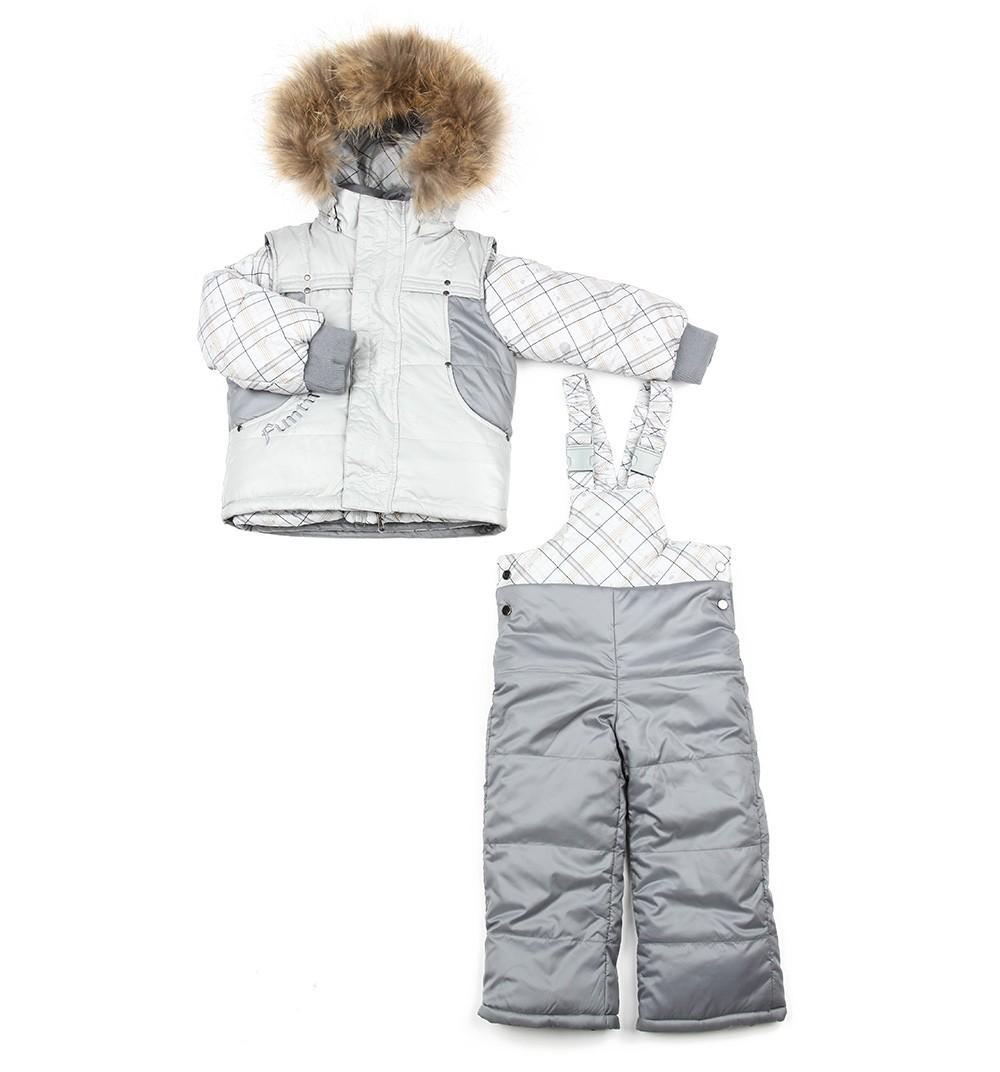 Комплект Fun Time куртка и полукомбинезон цвет: серый 86-й р