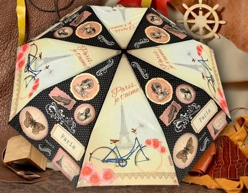 Женский зонт Париж, я тебя люблю!
