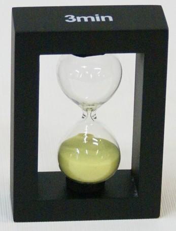 Оригинальные песочные часы на 3 минуты (желтый песок)