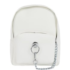 Белый рюкзак с цепочкой