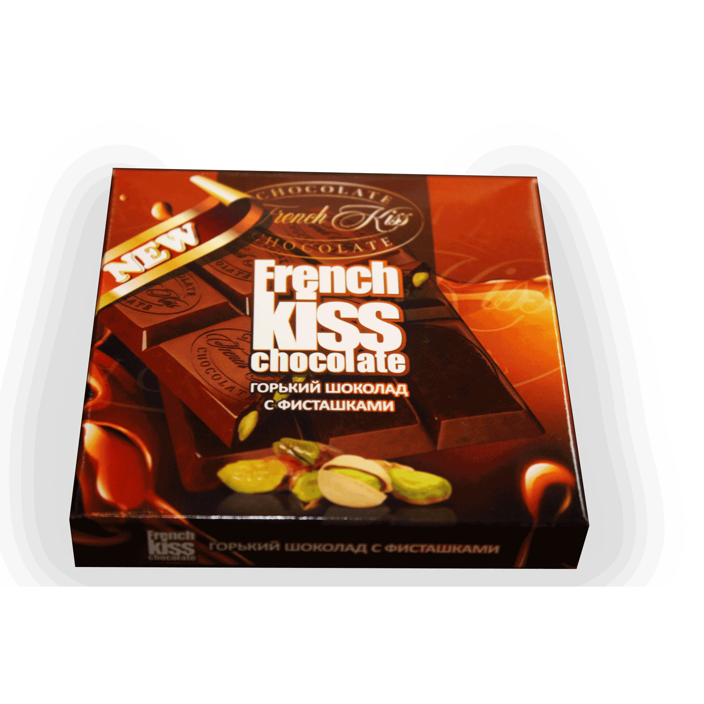 Горький шоколад с фисташками