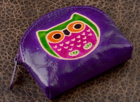 Монетница Socotra Сова (фиолетовый)