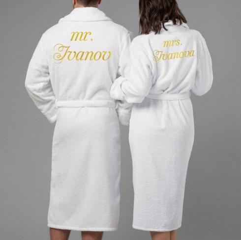 Комплект халатов с вышивкой Мистер и миссис