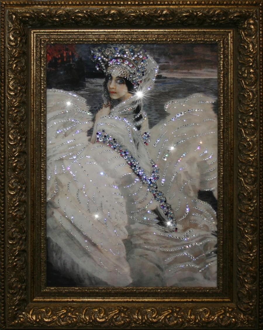 Картина с кристаллами Сваровски Царевна лебедь