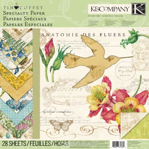 Набор бумаги для скрапбукинга K&Company Листва, 28 листов