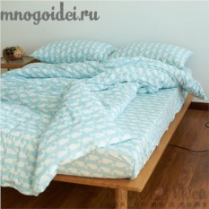 Комплект трикотажного постельного белья Голубой кашалот