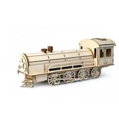 Подвижный деревянный 3D конструктор Lemmo Пенал-Паровоз