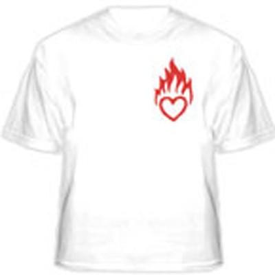 Прикольная футболка «Сердце в огне»