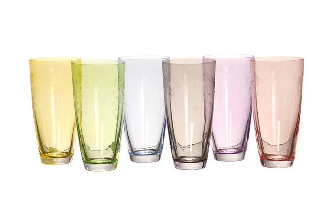 Набор 6 стаканов 350 мл Crystalex Элизабет, флорал