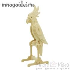 Деревянный конструктор 3D Попугай