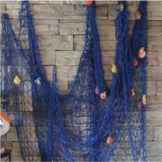 Большая декоративная морская сеть (3х2 м, синий цвет)