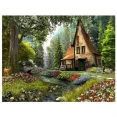 Картина-раскраска по номерам на холсте Зачарованый дом