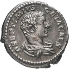 Денарий Римской Империи Гета 198–212 гг