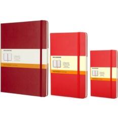 Красная записная книжка в линейку Moleskine Classic