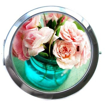 Карманное зеркало «Розы»