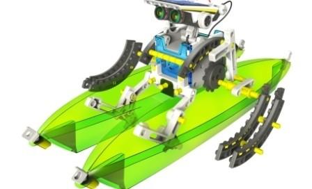 Конструктор Роботостроение (14 роботов в 1 наборе на солнечной батарее)