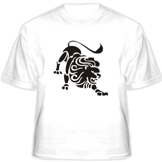 Прикольная футболка «Лев»