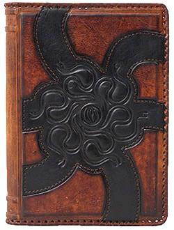 Ежедневник, А5, коричневый с черным узором