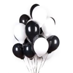 Букет из шаров Черные и белые шары