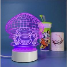 3D лампа Грибы