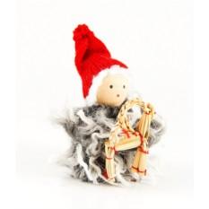 Новогоднее украшение Девочка с игрушкой