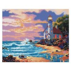 Алмазная вышивка «Дом с маяком»