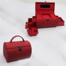 Красная шкатулка, размер 25х17,5х17см