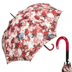 Зонт-трость Красные цветы Jean Paul Gaultier