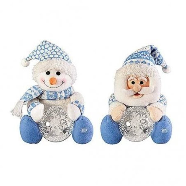 Интерактивная игрушка Дед Мороз, Снеговик со снежным шаром