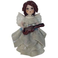 Фарфоровая статуэтка Ангел в белом с гитарой