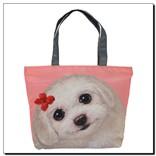 Легкая женская сумка с изображением собачки Момо