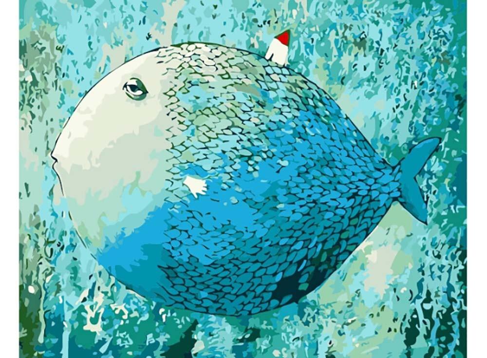 Картины по номерам «Чудо-юдо рыба-кит»