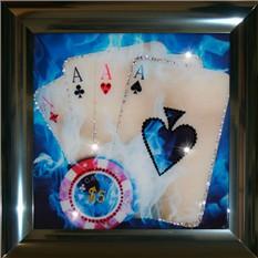 Картина с кристаллами Swarovski Покер