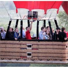 Полёт на воздушном шаре (3 взрослых + 1 ребенок)