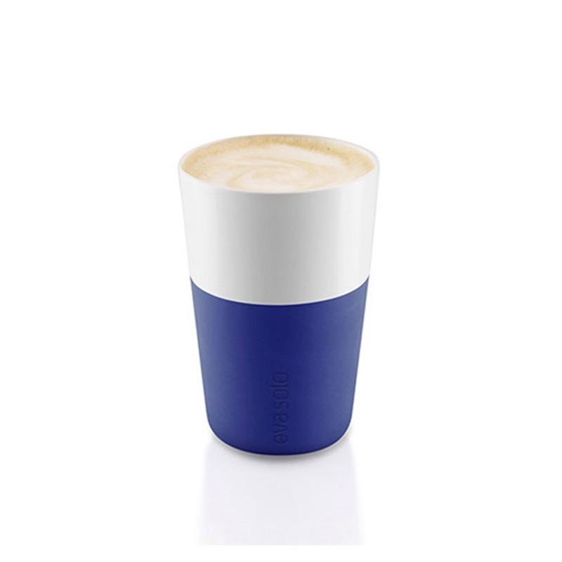 Синие фарфоровые чашки Latte