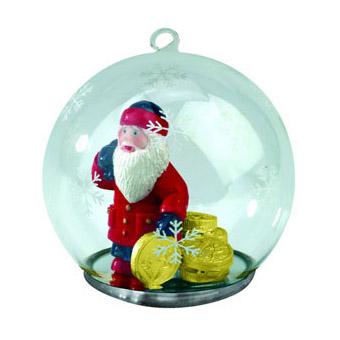 Новогодний шар с Дедом Морозом - банкиром
