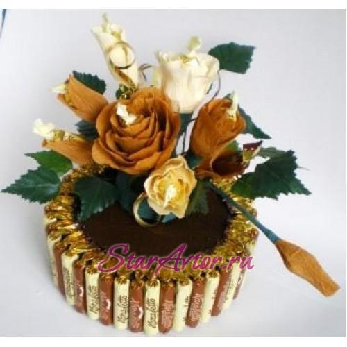 Букет из конфет Торт с печеньем